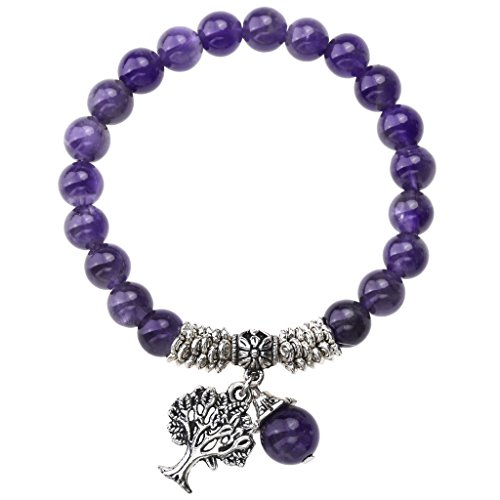 Amethyst Natural Gemstone Stretch Bracelet