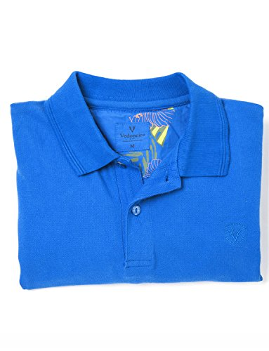 Vedoneire Herren Poloshirt, Einfarbig blau blau
