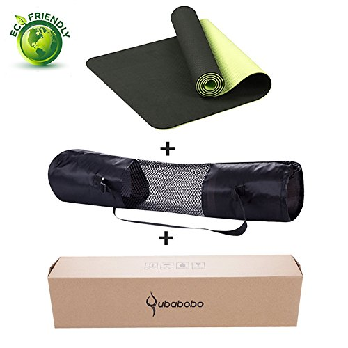QUBABOBO TPE Non-slip Yoga Mats For Outdoor Sports Fitness Slim Yoga Gym Exercise Mats Environmental Tasteless Pad Fitness Mat Sport Review