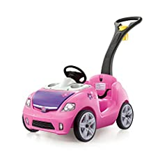 You'll have to agree that push cars for toddlers just don't get any cuter than this pink Whisper Ride II by Step2. Because as far as ride on toys go, this one's got 'em all beat! First off, there's the modern design, safety belt feature, and ...