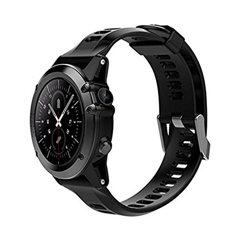 H1 Smart Watch Android 5.1 OS Smartwatch MTK6572 512MB RAM 4GB ROM GPS SIM 3G WCDM Heart Rate Monitor 5.0 M HD Camera IP68 Waterproof 30M Diving Sports Wristwatch (black)