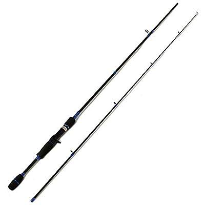 Entsport 2-Piece Casting Rod Graphite Portable Baitcast Rod Inshore Baitcasting Fishing Rod Freshwater Baitcaster Rod Baitcaster (8-20-Pound Test)