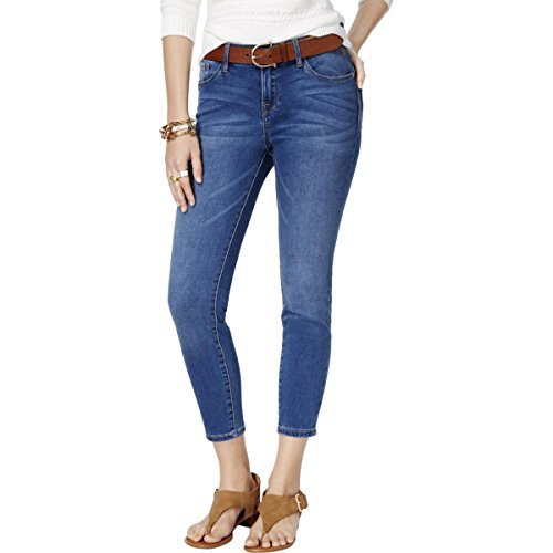 s Greenwich Mid Rise Dark Wash Skinny Jeans Blue 8 (Mid Rise Womens Dark Wash)