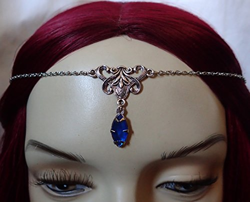 Silver Elven Circlet Sapphire Stone product image