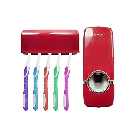 Sunsbell Inicio automático de Dispenser Cepillo de Dientes Titular los Productos de baño de Montaje en Pared de baño Estante de Pasta de Dientes Establece ...