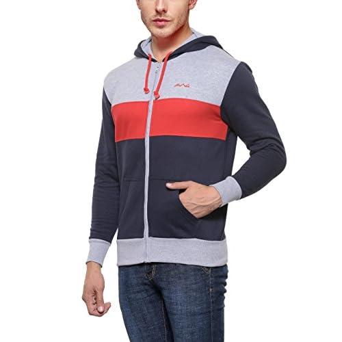 41furtlxJ1L. SS500  - AWG - All Weather Gear Men's Cotton Hoodie Sweatshirt with Zip