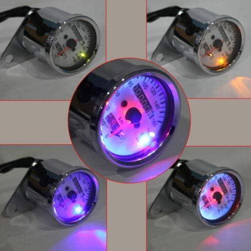 New LED Backlight Motorcycle Dual Odometer Speedometer Gauge For Harley-Davidson Honda Cafe Racer Universal Motorcycle