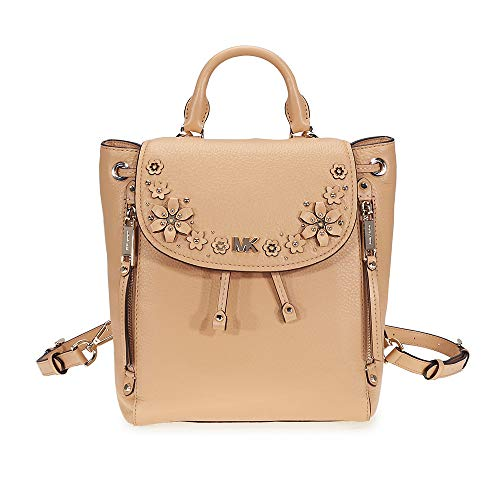 Michael Kors Evie Small Flower Studded Backpack- Butternut