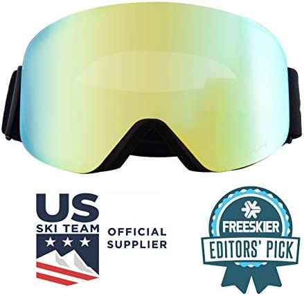Zipline Podium XT Ski Goggles – No Fog Interchangeable Magnetic Lenses with RipClear Lens Protection Film – US Ski Team Official Supplier