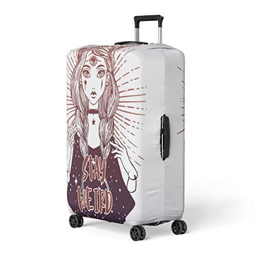 b5e535e5206c Amazon.com: Semtomn Luggage Cover Psychology Puppet Vintage Theater ...