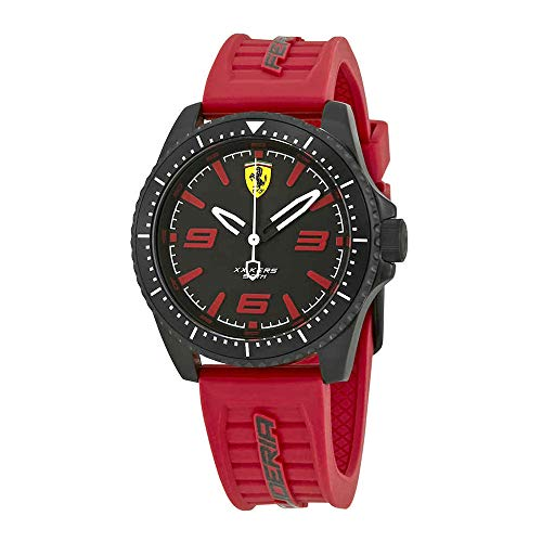 Ferrari Men's 'XX KERS' Quartz Stainless Steel and Silicone Casual Watch, Color:red (Model: 0830498)