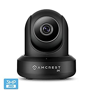 Amcrest UltraHD 2K (3MP/2304TVL) WiFi Video Security IP Camera with Pan/Tilt, Dual Band 5ghz/2.4ghz, Two-Way Audio, 3-Megapixel @ 20FPS, Wide 90° Viewing Angle and Night Vision IP3M-941…