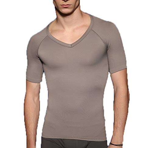 ASO-SLING Men's Sweat Vest Neoprene Sauna Waist Trainer Body Shaper Slimming Workout Tank Tops for Weight Loss Fat Burner Gray