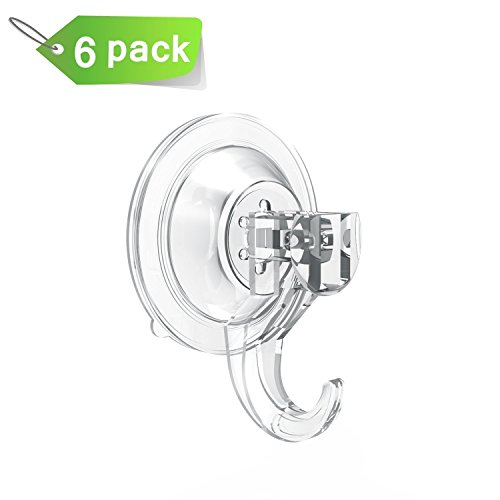 Robe Towel Hooks BUDGET & GOOD Kitchen Towel Hooks Suction Cup Wall Hanger Hook for Keys Coats Bags Loofah Christmas Stockings Holiday Wreath Set of 6