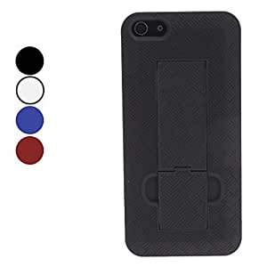 GHK - Special Design Hard Case with Stand for iPhone 5/5S (Assorted Colors) , Black