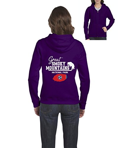 NIB Great Smoky Mountains National Park North Carolina and Tennessee Women Full-Zip Hooded Sweatshirt