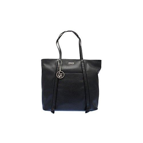 Armani Black Leather Bag - 5