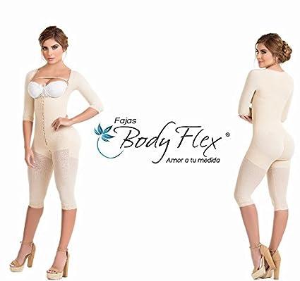 16de9a28808 Fajas Colombianas Body Flex Womens Full Sleeve Body Shaper,Thigh & Back  Coverage Post-