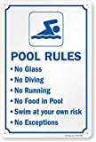 "pool rules sign ""Swimming Pool Rules"" Sign By SmartSign 