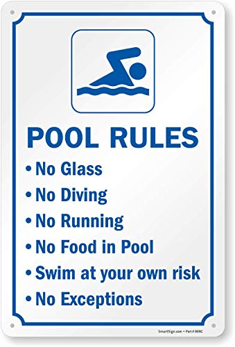 """Swimming Pool Rules"" Sign By SmartSign 