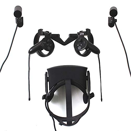 AMVR VR Wall Hook Stand Mount for Oculus Rift Headset and Touch and Sensor (Rift Walk ()