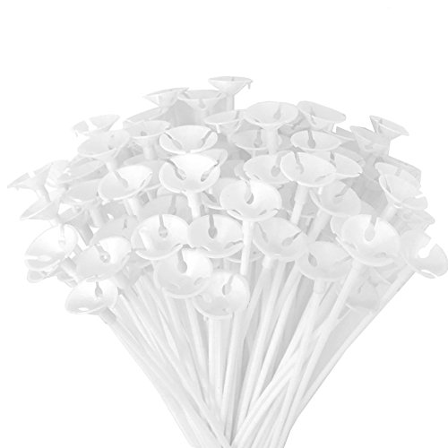 Apoulin Balloon Sticks - 100Pcs Balloon Stick and Cup for Party Wedding