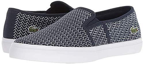 Lacoste Women's Gazon Sneaker, Navy White Canvas, 5.5 Medium ()