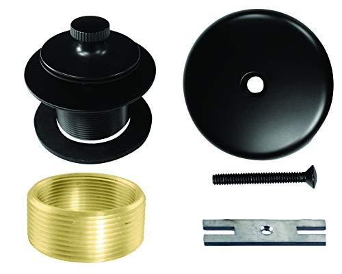 Westbrass Twist & Close Universal Tub Trim with One-Hole Faceplate, Matte Black, D941K-62 (Bath Faceplate Tub)