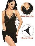 ADOME Women Chemise Sleepwear Modal Nightgown Full