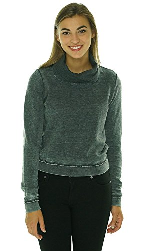 Guess Womens Long-Sleeve Cowl-Neck Cropped Sweatshirt ()