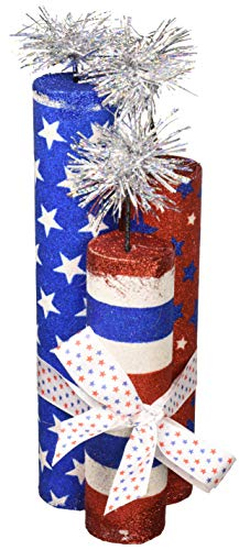 "Amscan 280061 Party Supplies Patriotic Fireworks Center Piece, 10 1/2"", Multi Color"