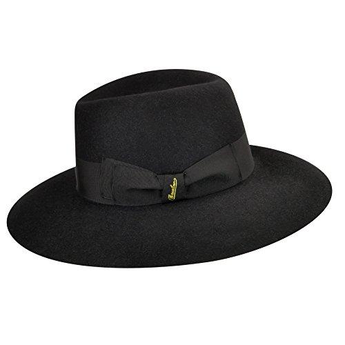 Borsalino Female Claudette Wide Brim Hat Black M by Borsalino