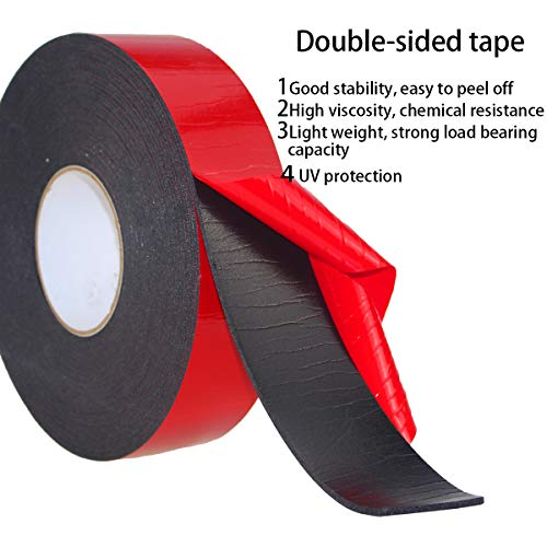 PE Foam Double-Sided Adhesive Tape -Outdoor and Indoor Super Strong Foam Seal Strip for Automotive Mounting,Weatherproof Decorative and Trim,Car Trim Strip,Photo Frame (Wide 2 in Long 33 Ft) Photo #4