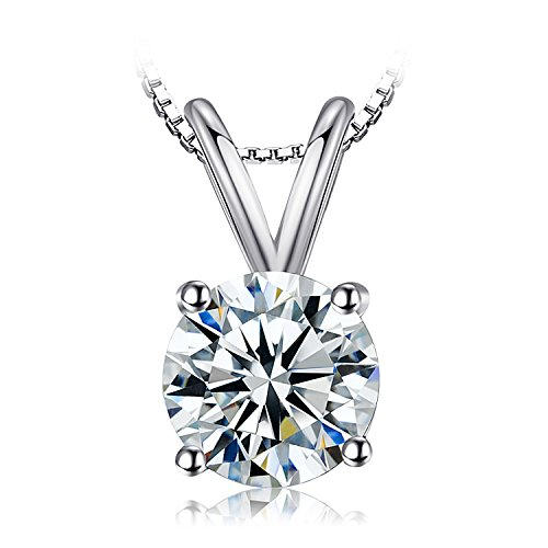 JewelryPalace 1ct Cubic Zirconia 925 Sterling Silver Solitaire Pendant Necklace (925 Sterling Silver Solitaire)