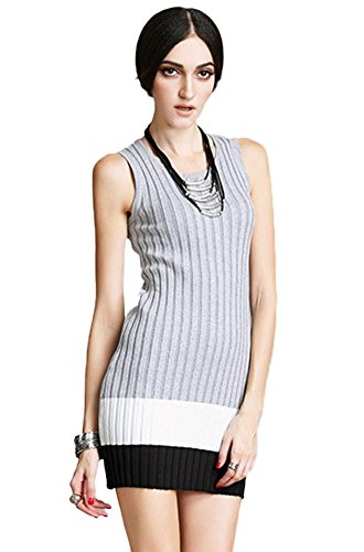 Black Insun Damen Kleid Grau Grey nqCvp6q