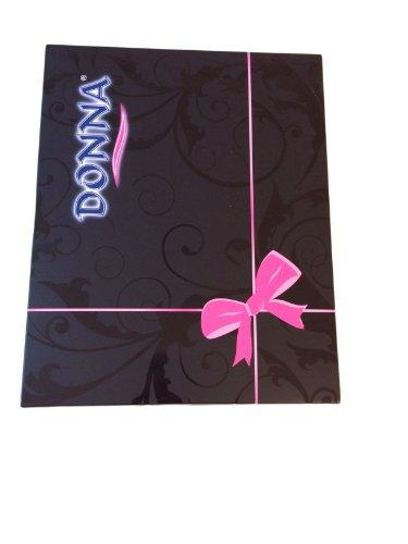 DONNA - Camisón para dormir Viskose-Negligee con sutil puntilla en gran caja de regalo crudo