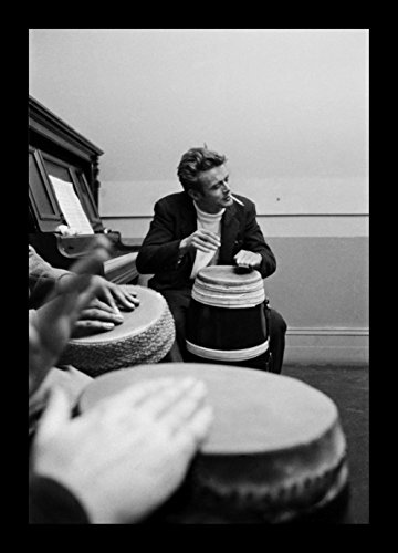 - Historical Photo Collection 8 x 10 Photo Framed James Dean Drums On High Qquality Fiji Film Paper