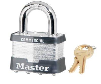 Master Lock 5KA-A297 2'' Keyed Alike Laminated Padlocks - Quantity 8