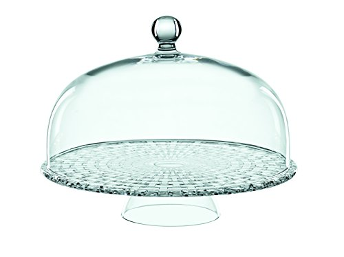 Crystal Footed Cake Plate (Nachtmann Boss Nova Tea Time Footed Cake Plate with Dome, Clear)