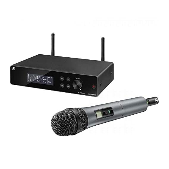 Sennheiser XSW 2-835-A Cardiod Dynamic Wireless Microphone with external Antenna(True Diversity) for Live stage, Singers