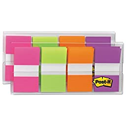 Flags In Portable Dispenser, Bright, 160 Flags/dispenser By: Post-it Flags