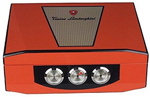 Lamborghini Humidor - hold 75 cigars - hygrometer by LAMBORGHINI