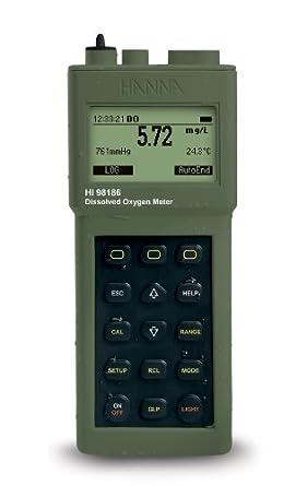 Hanna Instruments HI 98186-01 Dissolved Oxygen/BOD Meter, 115V, with Graphic Display