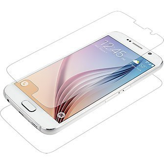 (Zagg InvisibleShield Dry Galaxy S6 Edge Screen Protector Full Body Screen and Phone Protector Clear)