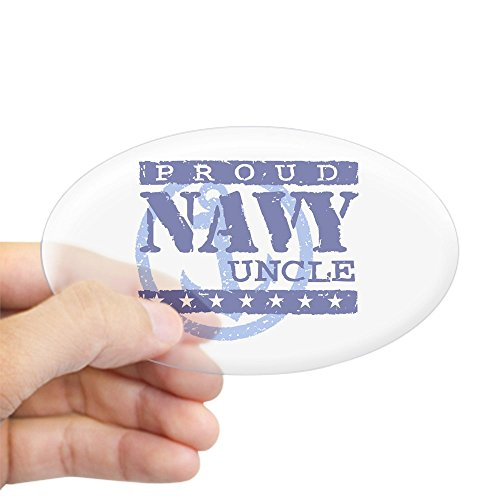 Soldier Uncle Support - CafePress Proud Navy Uncle Oval Sticker Oval Bumper Sticker, Euro Oval Car Decal