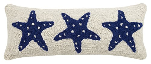(Peking Handicraft Starfish Trio Hook Pillow, Blue)