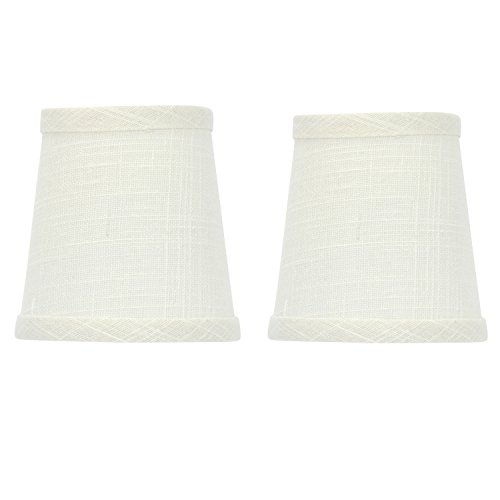 Upgradelights Set of 2 Off White Linen 4 - White Wicker Shade Shopping Results