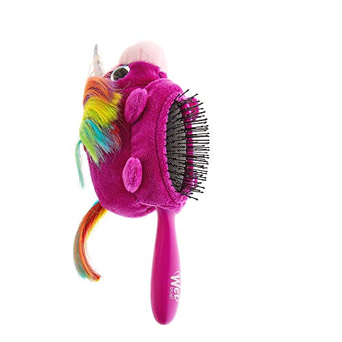 Wet Brush Plush Detangler Hair Brush for Kids with Soft IntelliFlex Bristles, Unicorn Detachable Toy