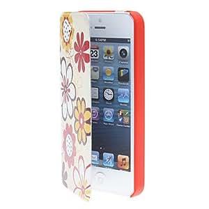 CL - Calidad de Diseño Warm Girasoles patrón completo Smart Case cuerpo con mate de la contraportada para el iPhone 5/5S