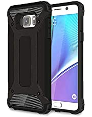 DEVMO Phone Case Compatible with Samsung Galaxy Note 5 N920 Hard Plastic Shell Case/Shockproof Hard Bumper/Protective Cover